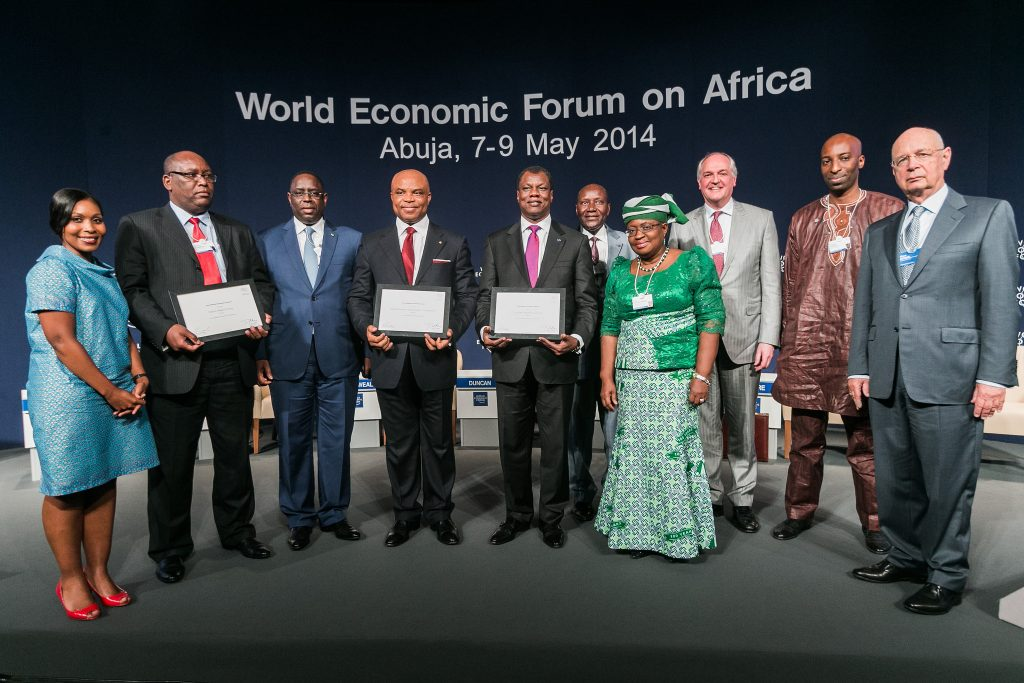 Award Winners at the World Economic Forum on Africa in Abuja, Nigeria 2014.