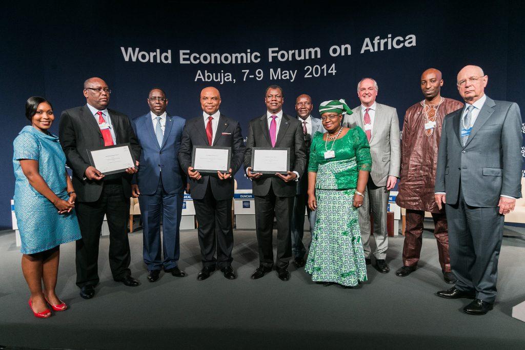 Award Winners at the World Economic Forum on Africa in Abuja, Nigeria 2014.