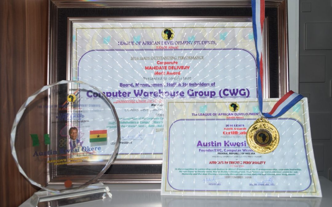 Founder, CWG Plc, Austin Okere bags Africa's Patriotic Personality Award